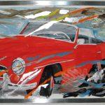 80  81 Portrait mit rotem Auto