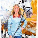 Katharina mit Verdener Pferd (1996)