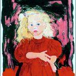 Kind mit dunkelrotem Samtkleid (1993)