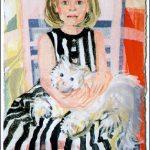 Tochter mit schwar-weißem Kleid und Welly (1988)